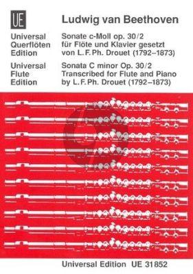 Beethoven Sonate Op.30 Nr.2 c-moll Flöte-Klavier (Louis Drouet)