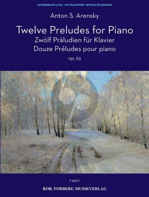 Arensky 12 Preludes Op.63 Piano solo