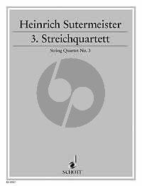 Sutermeister Quartet No.3 (1933) 2 Vi.-Va.-Vc. (Score/Parts)