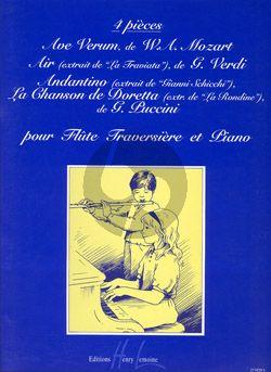 4 Pieces Flute-Piano (Mozart-Verdi-Puccini) (Nerini)