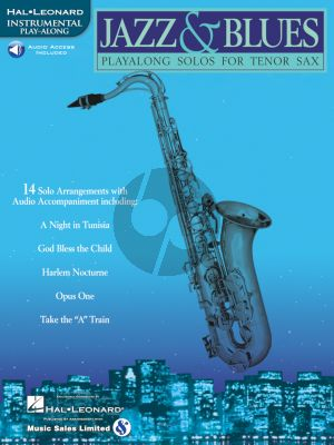 Jazz & Blues Play-Along Solos for Tenor Sax (Book with Audio Access)