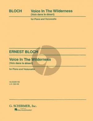 Bloch Voice in the Wilderness for Cello and Piano