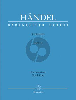 Handel Orlando HWV 31 (Opera in 3 acts) Vocal Score (ital./germ.) (edited by Siegfried Flesch)