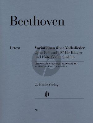 Beethoven Variationen uber Volkslieder op.105 - 107 (Henle-Urtext)