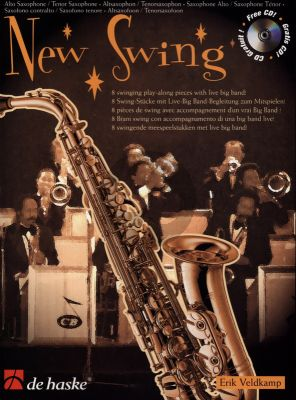 Veldkamp New Swing for Alto- or Tenor Saxophone (8 swinging pieces with a live big band) (Bk-Cd)