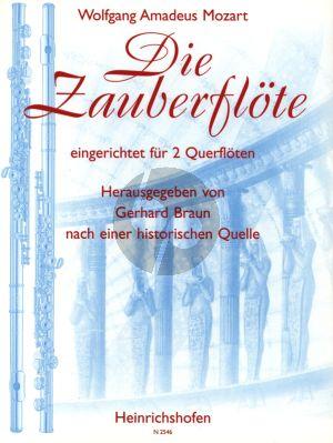 Mozart Die Zauberflote 2 Flöten (nach einer historischen Quelle) (herausgegeben von Gerhard Braun)