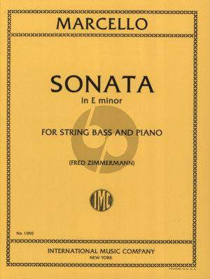 Marcello Sonata e-minor Double Bass and Piano (orig. Violoncello) (Fred Zimmermann)