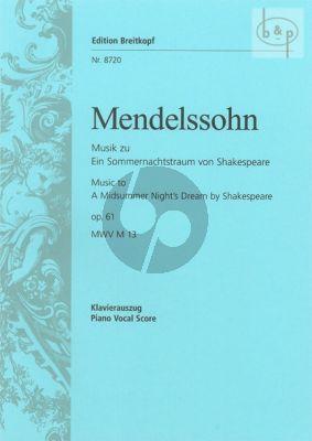 Musik zu Ein Sommernachtstraum von Shakespeare Op.61