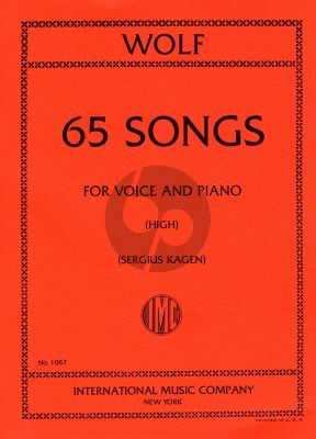 Wolf 65 Songs High Voice and Piano (German/English) (Sergius Kagen)
