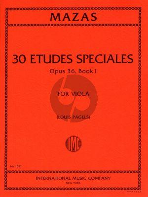 Mazas Etudes Speciales Op.36 Vol.1 Viola (Edited by Louis Pagels)
