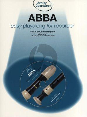 Abba - Junior Guest Spot Playalong (15 Hit Songs) Descant Recorder (Book-CD) (easy)