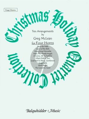 McLean Christmas Holiday Collection 4 Horns (Score/Parts)