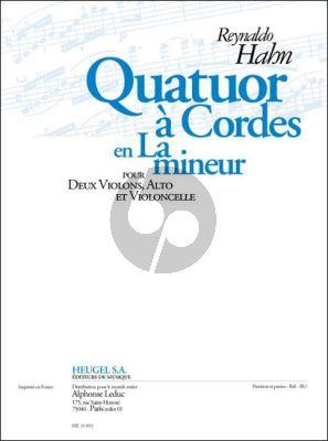Hahn Quatuor a-minor 2 Vi.-Va.-Vc. (Part./Parties)