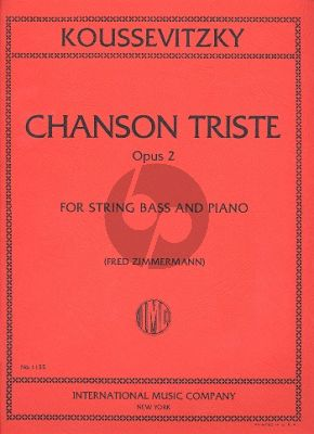 Koussevitzky Chanson Triste Double Bass-Piano (Solo Tuning)