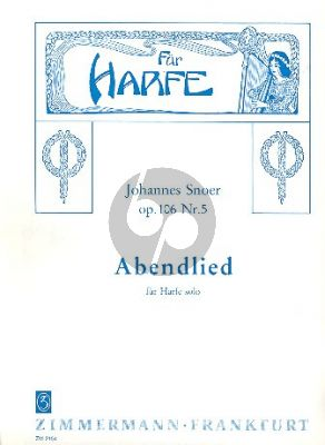 Snoer Abendlied Op.106 No.5 Harfe