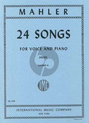 Mahler 24 Songs vol.4 (High Voice)