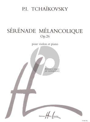 Tchaikovsky Serenade Melancholique Op.26 Violon-Piano (Revision et Doigtes J.F. Gonzales)