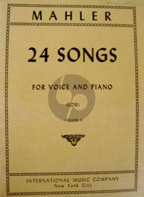 Mahler 24 Songs vol.2 Low Voice (germ./engl.)