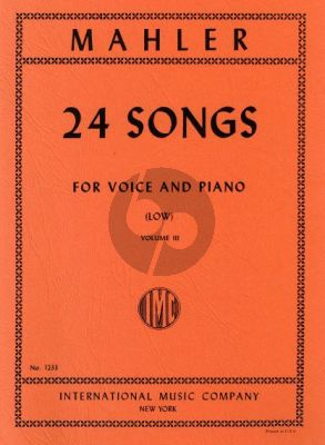 Mahler 24 Songs vol.3 (Low Voice)