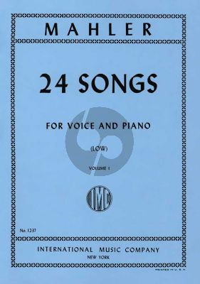 Mahler 24 Songs Vol.1 Low Voice (No.1-6)