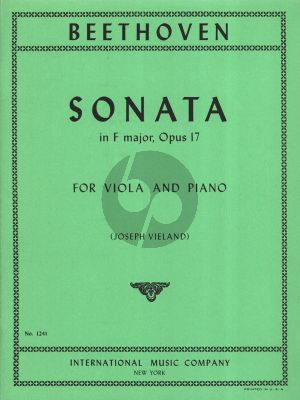 Beethoven Sonata F-major Op. 17 for Viola and Piano (transcr. by Joseph Vieland)