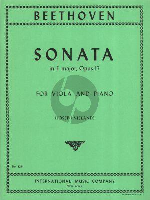 Beethoven Sonata F-major Op. 17 for Viola and Piano (transcr. by Joseph Vieland)