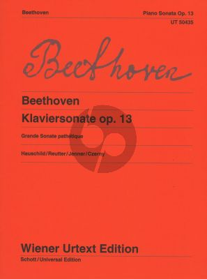 Beethoven Sonate c-moll Op.13 (Grande Sonate Pathetique) (edited by Peter Hauschild and Jochem Reutter - fingering by Alexander Jenner) (Notes and interpretation by Carl Czerny)