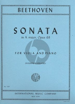 Beethoven Sonata A-major Op.69 Viola-Piano (transcr. by Josep Vieland)