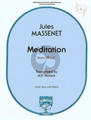 Meditation (Thais) Violin and Piano
