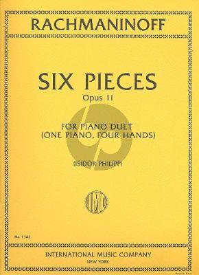 Rachmaninoff 6 Pieces Op.11 Piano 4 hds (Isidor Philipp)