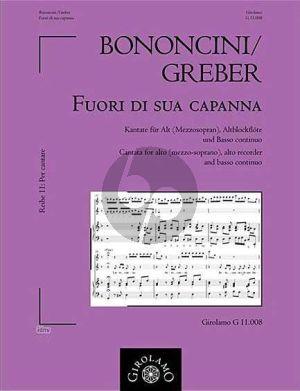 Bononcini Fuori di sua capanna Altstimme-Altblfl.-Bc (Muller-Busch) (Teilweise von Greber G.(?- 1731)