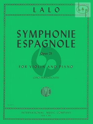 Symphonie Espagnole Op.21 Violin and Piano