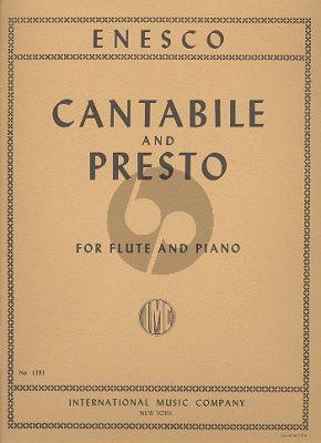 Enesco Cantabile and Presto Flute-Piano