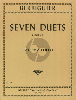 Berbiguier 7 Duets Op.28 for 2 Flutes