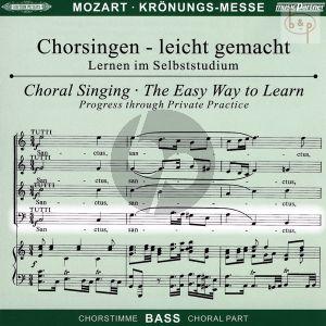 Missa C-dur KV 317 (Kronungs-Messe) (Soli-Chor-Orch.) (Bass Chorstimme)
