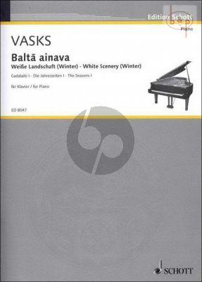 Balta ainava - Weise Landschaft (White Scenery) (Winter) Klavier
