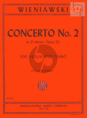 Concerto No.2 Op.22 Violin-Piano