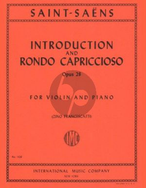 Saint-Saens Introduction & Rondo Capriccioso Op.28 (Francescatti)