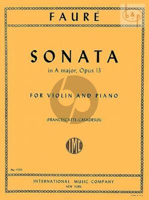 Sonata A-major Op.13