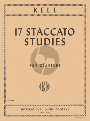 Kell 17 Staccato Studies Clarinet