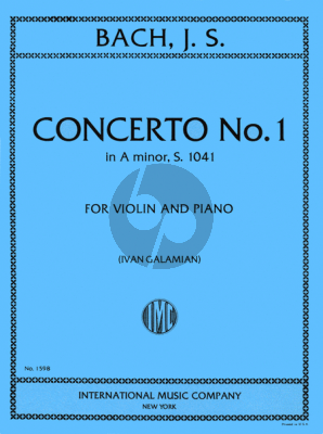 Bach Concerto a-minor BWV 1041 Violin-Piano (edited by Ivan Galamian)
