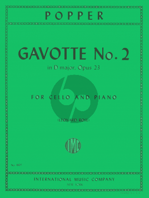 Popper Gavotte D-major Op 23 No.2 Violoncello-Piano