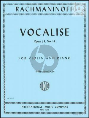 Vocalise Op.34 No.14 Violin-Piano