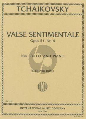 Tchaikovsky Valse sentimentale Op.51 No.6 Violoncello-Piano (Rose)