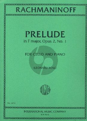 Rachmaninoff Prelude F-major Op.2 No.1 Cello and Piano (Leonard Rose)