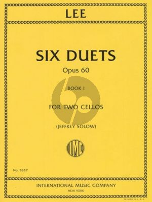 Lee 6 Duets Op. 60 Vol. 12 Cellos (edited by Jeffrey Solow)