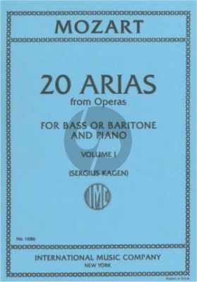 Mozart 20 Arias vol.1 (Baritone-Bass) (Kagen) (with English translations)