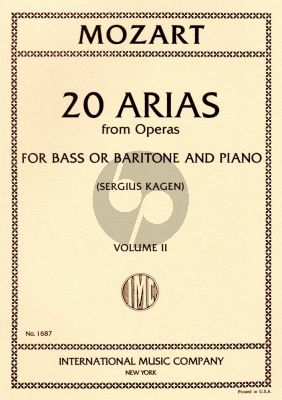Mozart 20 Arias vol.2 Baritone-Bass (Sergius Kagen) (with English translations)