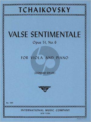 Tchaikovsky Valse Sentimentale Op.51 No.6 Viola-Piano (Leonard Davis)
