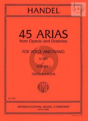 45 Arias vol.1 Low Voice